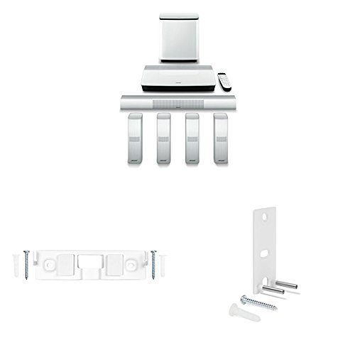 Bose Lifestyle 650 Home Entertainment System with Wall Muonts for Center Channel and Surround Speakers (White)