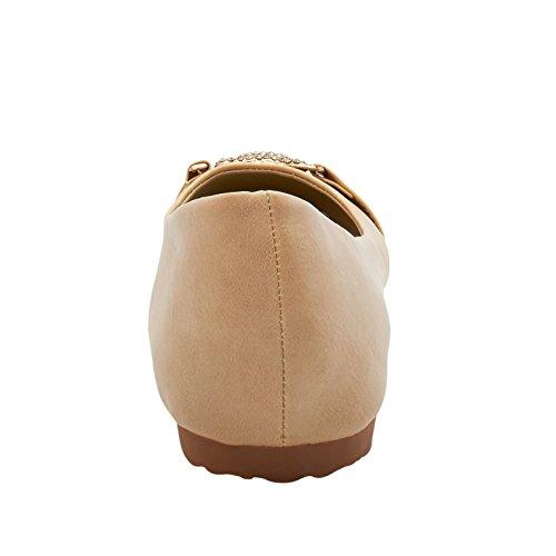 Women's Flats Footwear London Alyssa Beige Ballet qxzw6H