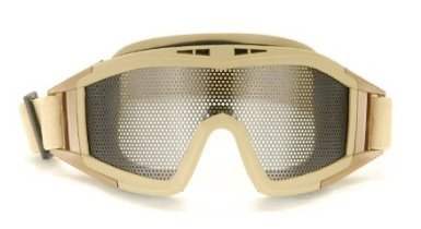 UKARMS Tactical Airsoft Metal Mesh Goggles (Tan)