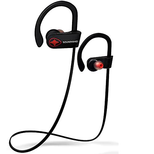 U8 Wireless Bluetooth Running Headphones – SoundWhiz Noise Cancelling Waterproof Workout Earbuds – w Mic & Siri. Best…