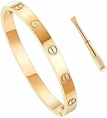 63c18bae1bc Love Bracelet Stainless Steel Cuff Bangle Titanium Steel Screws Womens  Bracelet