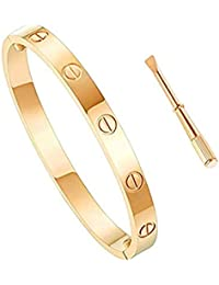 Love Bracelet Stainless Steel Cuff Bangle Titanium Steel Screws Womens Bracelet