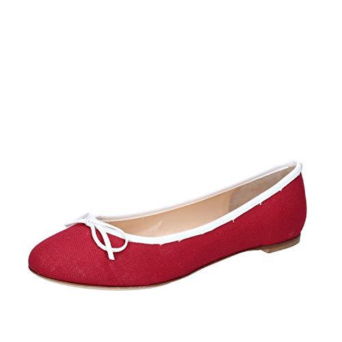 Kt Borgoña Bailarinas Textil Mujer 18 g4nwqfTnW