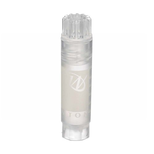 Wheaton W985902 Polypropylene Conical 2mL CryoElite Cryogenic Freestanding Vial, with Writing Patch and Internal Threaded Natural Cap (Case of 1000)