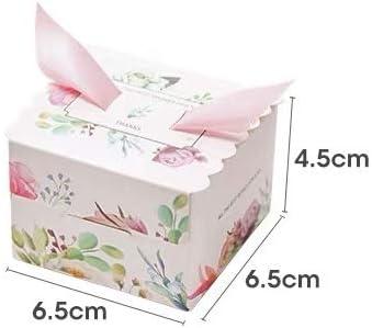 50 Cajas(Cajitas de carton) para detalles Boda, Comunion, Cumpleaños, Navidad, Fiestas infantiles, eventos. Cajitas prar regalos, bombones, chuches, caramelos. (Floral): Amazon.es: Hogar
