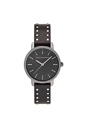 Rebecca Minkoff 2200166 BFFL Grey Ion Plated Tone Black Studded Strap Watch