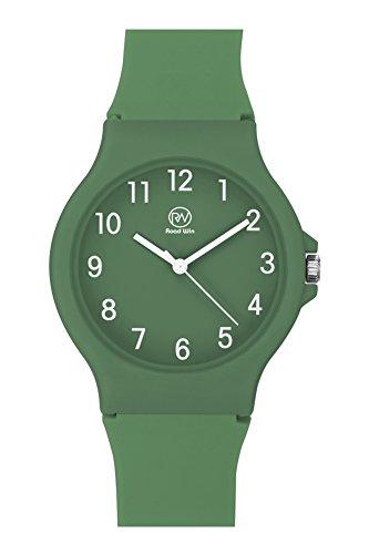RW+Unisex+Wristwatch+Fashion+Casual+Quartz+Analog+Wrist+Watch+with+Silicone+Strap+for+Men+Male+Women+Ladies+Female+TB-5017+%28Green%29
