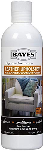 Bayes Premium High Performance Non Toxic Leather Upholstery Cleaner and Conditioner - 16 oz - Prevents Drying, Cracking or Fading of Leather Couches, Car Seats, Shoes, Purses, Pack of 2