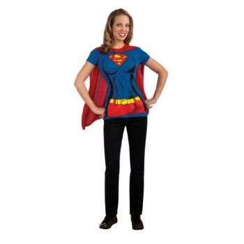 [DC Comics Super-Girl T-Shirt With Cape, Blue, Small Costume] (Super Easy Character Costumes)