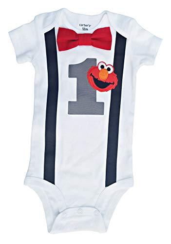 - Baby Boys 1st Birthday Outfit - Elmo Bodysuit