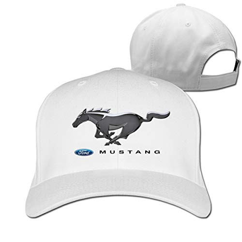 LightCa Cool Ford Mustang Auto Logo Adjustable \r\n Baseball Cap for Men Women,White