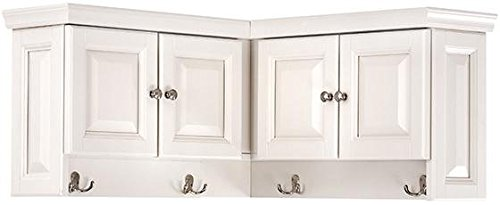 "Home Decorators Collection Walker Corner Wall Cabinet, 16"" Hx30 Wx30 D, WHITE"