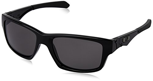 Oakley Men's Jupiter Non-Polarized Square Sunglasses,Polished Black Frame/Warm Grey Lens,One - Polarized Jupiter Squared