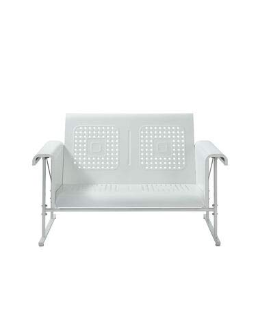 Crosley Furniture Veranda Metal Outdoor Loveseat Glider - Alabaster White ()