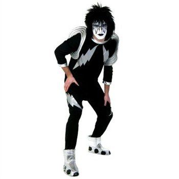 KISS Spaceman Costume Adult Costume -