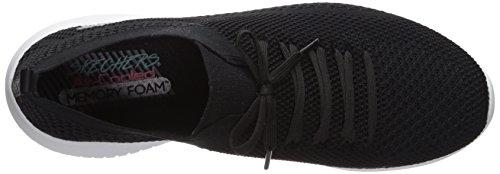 Bkw Ultra Zapatillas 37 Sin Eu Mujer black Statements Skechers Cordones Para Negro white Flex xC4Pcqd