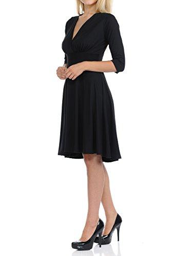 Basico Women Long 3/4 Sleeve Maxi Wrap Dress V neck Semi Casual (X- Large, ()