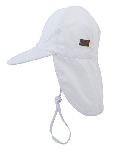 Melton Sommerhut mit Krempe UV 30+, uni - Gorro Hombre White 100
