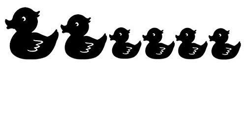 - Rubber Duck Family - Sticker Graphic - Auto, Wall, Laptop, Cell, Truck Sticker for Windows, Cars, Trucks