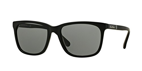 Brooks Brothers BB5027S Sunglasses 609587-57 - Black / Matte Black Frame, Grey - Brothers Brooks Sunglasses