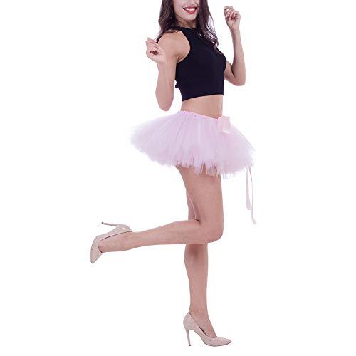 cbd337ca00 Tutú Múltiples Fiesta Enaguas Hinchadas Con Ballet Gasa Faldas De Ligera  Falda Rosa Feoya Mujer Tul Traje Carnaval Disfraces Cortas Adulto Danza ...