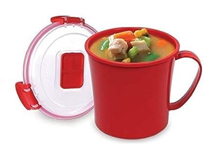 1 Taza para sopa de microondas, 565ml - Recipiente de sopa ...