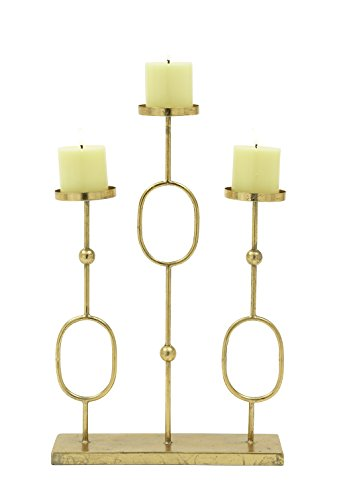 Deco 79 65496 Metal Candelabra, 13'' x 20'', Gold by Deco 79