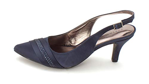 Karen Scott Womens Gorgia Closed Toe Casual Slingback, Midnight, Size 8.0