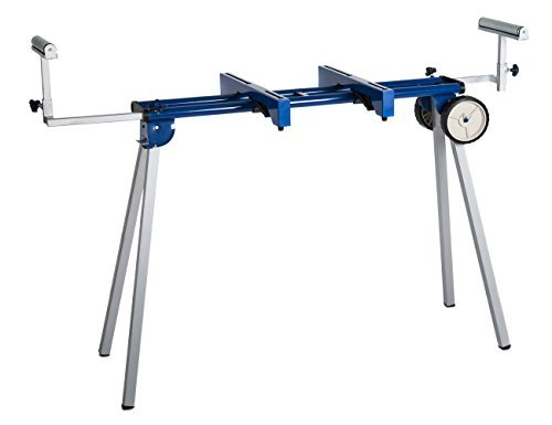 HICO UWC1203 Folding Miter Saw Stand with Wheels, Machine Mounts and Material Roller Supports by HICO