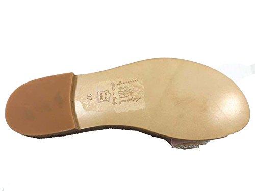 EDDY DANIELE Zapatos Mujer 37 Sandalias Rosa Textil AW264/AW265 ri1jn5