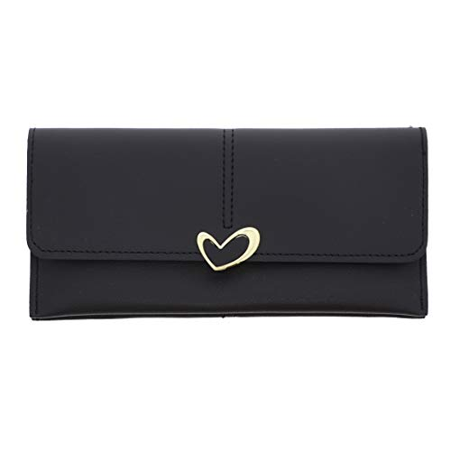 Wallet with Heart Closure-Black