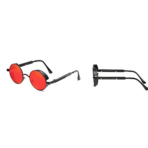 Hombres Gafas De Redondo Protección Sol Deportivas Gafas Y 2018 Marco Punk Conducción Red Nuevas Clásicas De Pesca Para UV Gafas Gafas Vintage Antideslumbrante Sol De Unisex Metal Sol De Mujeres Pin vwx0a1q