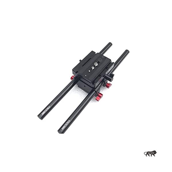 Shootvilla Universal Rail System 15mm Rod Support for EOS 5D Mark2 7d 550d t2i DSLR DV Camera HDV Video Film Shooting Movie 1