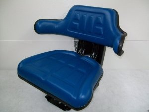 Suspension Seat Ford Tractor Blue 2000, 2600, 2610, 3000, 4000, 3600, 4600, 3910 #IC (Ford 4600 Tractor)