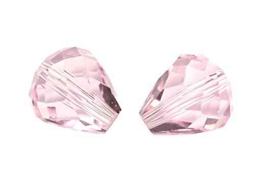 (50pcs 8x6mm Adabele Austrian Teardrop Crystal Beads Rosaline Compatible with 5500 Swarovski Crystals Preciosa SST-803)
