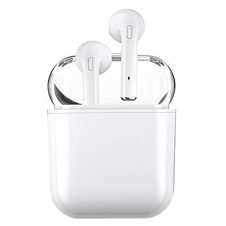 Auriculares inalámbricos, auriculares estéreo bluetooth con micrófono, mini auriculares en la oreja, auriculares a prueba de sudor: Amazon.es: Electrónica