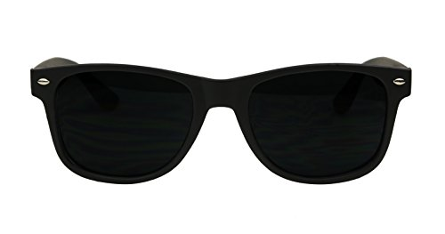 00d61dd1da ShadyVEU - Exclusive Super Dark Lens Retro 80 s Spring Hinge Wayfarer  Sunglasses (Soft Matte