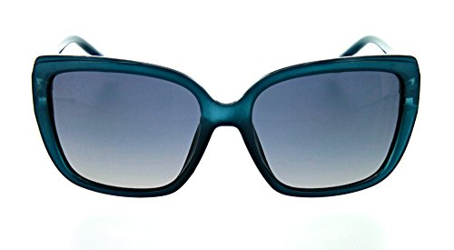 Optic Nerve Kumari Polarized Women's Sunglasses - Matte Crystal Blue Frame with Polarized Smoke Fade Lens (Crystal Blue Fade Frame)