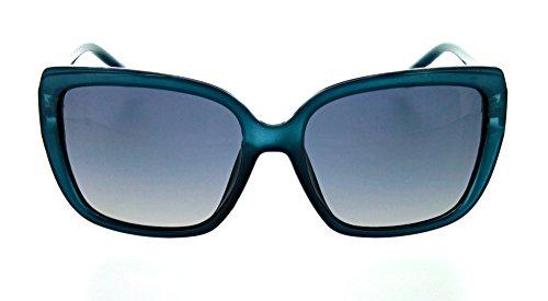 Optic Nerve Kumari Polarized Women's Sunglasses - Matte Crystal Blue Frame with Polarized Smoke Fade Lens (Crystal Blue Fade Frame)