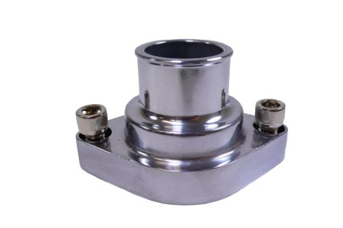 Racer Performance Chevy Small Block/Big Block Aluminum Straight Water Neck - Polished