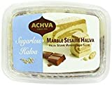 Achva Sugarless Halva Vanilla Sesame 10.5 Oz. Pack Of 3.