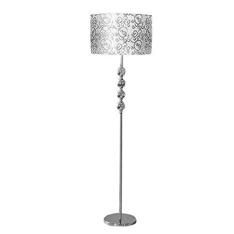 Lámpara de pie Simple y Moderna (Plata) lámpara de Sala de ...