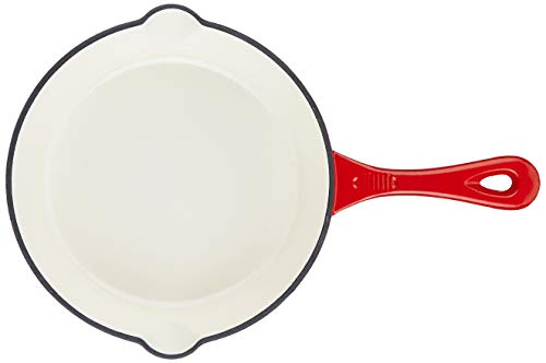 Amazon-Brand-Solimo-Cast-Iron-Fry-Pan-21cm-Red