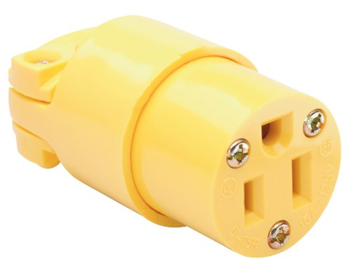 Legrand-Pass & Seymour 4887YCC10 15-Amp Medium Duty Connector, Yellow by Pass & Seymour