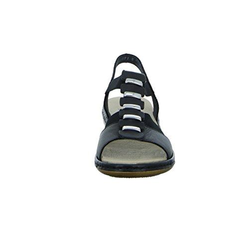 Rieker 65964-00 - Sandalias de vestir para mujer negro negro 37, color negro, talla 38