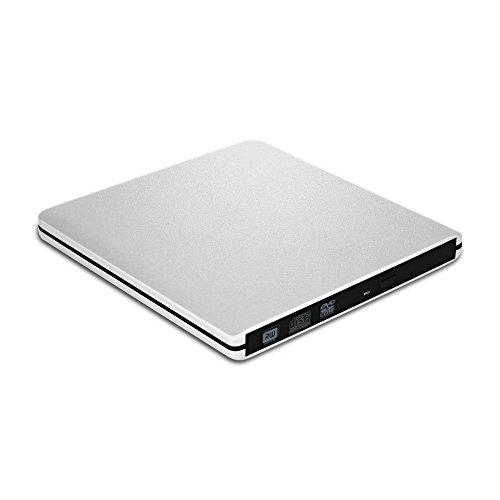 Latest USB 3.0 Ultra Slim fast Portable DVD Rewriter Burner,External DVD Drive Optical Drive CD+/-RW DVD +/-RW Superdrive for Apple Mac Macbook Pro and Laptop PC (Dvd Player For Mac Laptop)