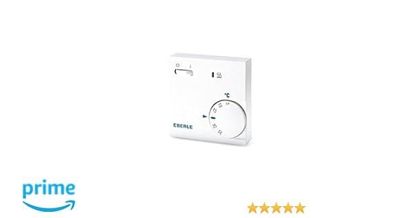 Eberle 111110451100 RTR E 6202 - Termostato con interruptor de apagado/encendido y luz LED, color blanco