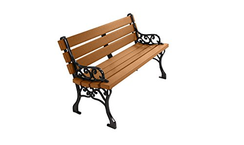 Kirby Built Products 4' Recycled Plastic Classic Park Bench - Cedar ()