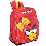 Angry Birds Girls She Bird Backpack Full Size with Bow, Bags Central
