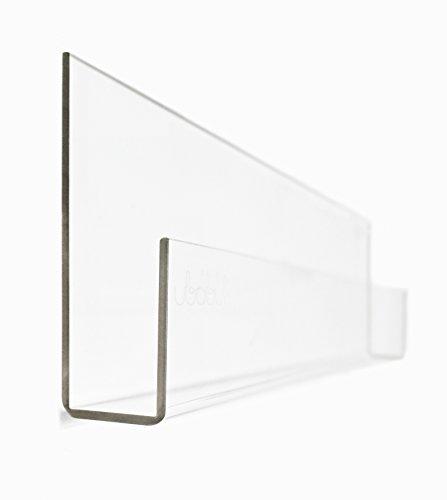 Ubabub U0500 Book See 35.5 Clear Acrylic Wall Mount Bookshelves, Set of 2